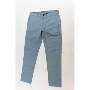 Armani Exchange A/X Cotton Straight Leg Pants Blue